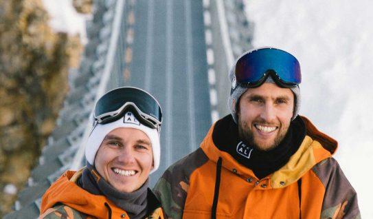 dragon goggles potrait of real snowboarding instructors