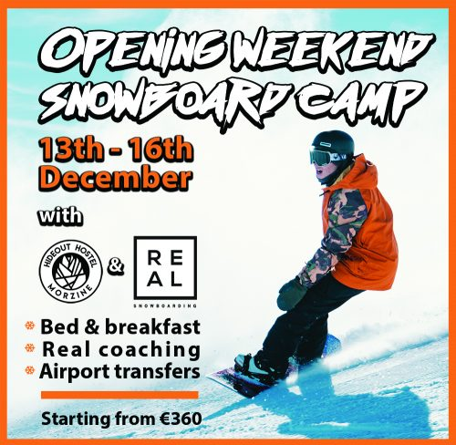 hideout hostel morzine and real snowboarding december snowboard camp
