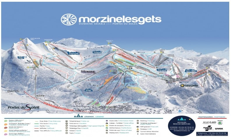 Morzine and Les Gets piste map