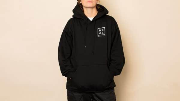 REAL Snowboarding Black hoodie